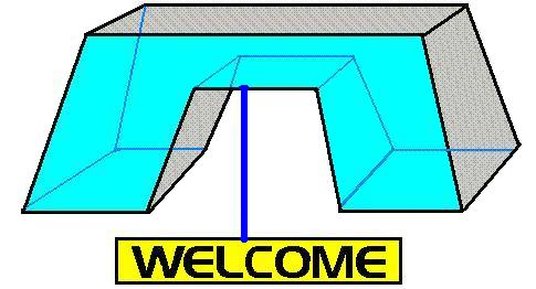 bridge with a welcome sign by Ceres Software Corporation
